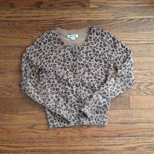 Girls Cheetah Print Cardigan